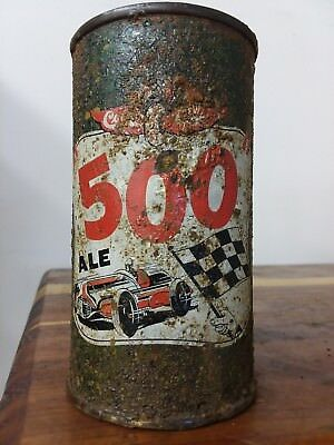 "Cooks ""500"" Ale Evansville, Indiana outdoor flat top beer can F.W. Cook Company"