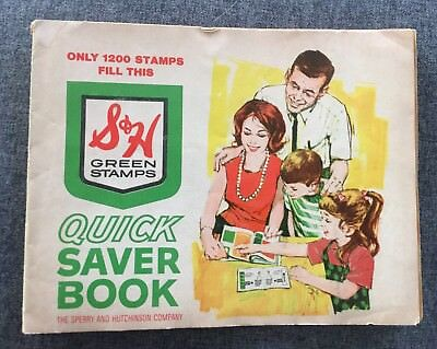 1960's S & H Greenstamp Book Complete with Stamps