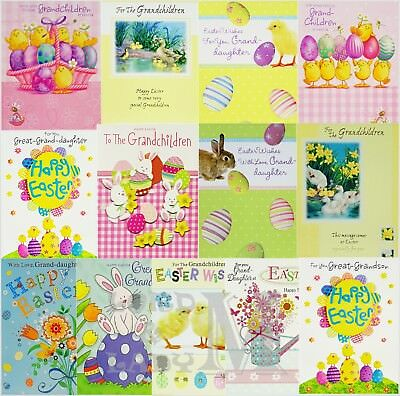 Grand-daughter / Great-Grandson / Grandchildren Easter Card - Various Designs