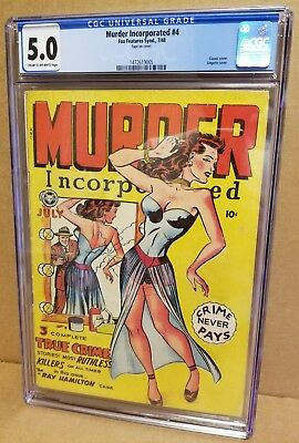Murder Incorporated #4 Cgc 5.0 Classic Lingerie Cover Gga Scarce Pre-Code 1948