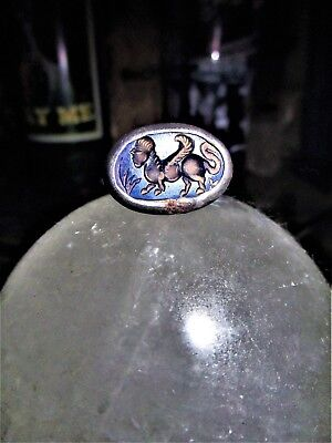 Rare Medieval Manticore Intaglio carved Ring (11th - 17th Century)