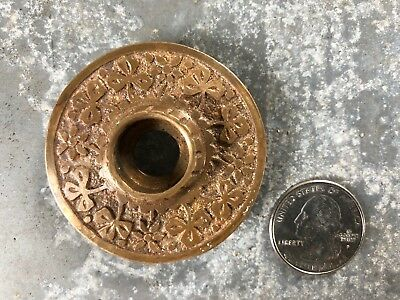 Vintage ornate fancy Victorian cast brass door knob rosette backplate old