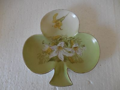 vintage P T Germany china clover shaped pin dish