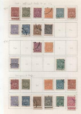 TURKEY: 1947 Examples - Ex-Old Time Collection - Album Page (13764)