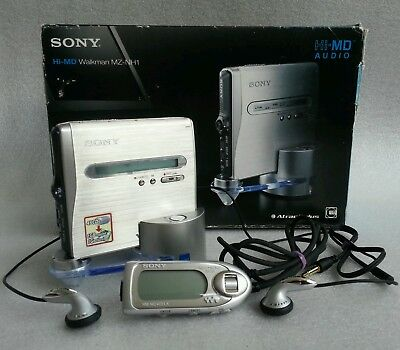 Sony Hi-MD Walkman MZ-NH1 personal mini disc player.