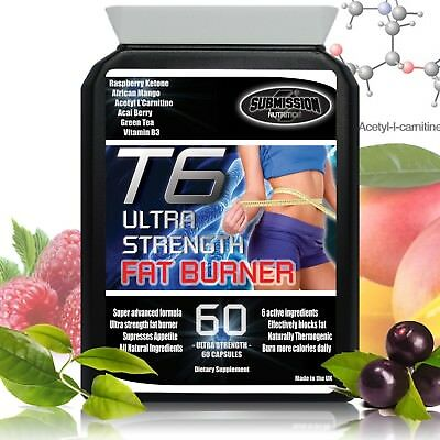 Strongest T6 Fat Burner Weight Loss Tablets Raspberry Ketone Diet Slimming Pills