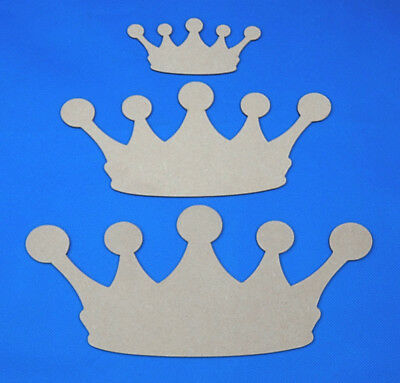 Wooden Crown Tiara Craft Shapes Blanks - 5 sizes to choose from *FREE DELIVERY*