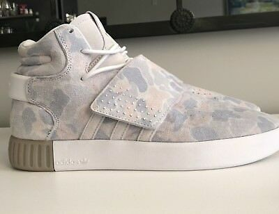 NEW with out box Adidas Tubular Invader Strap, Pink & Gray Camo. Men size 8