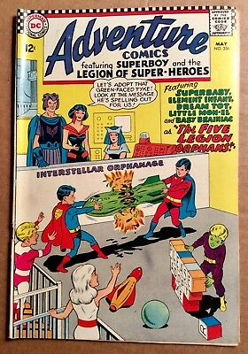 ADVENTURE COMICS #356 (1967) DC Silver Age Superboy & Legion of Super-Heroes F