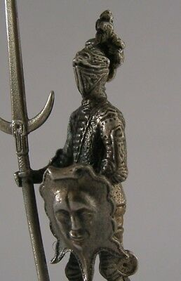 Superb Solid Cast Sterling Silver Knight Figure London 1975
