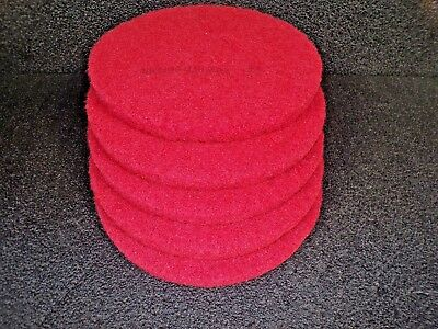 """3M 13"""" Non-Woven Round Buffing and Cleaning Pad, 175 to 600 rpm, PK5, 5100 (K)"""