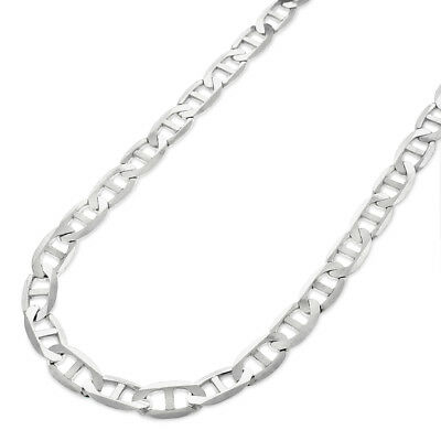 925 Sterling Silver 5.5mm Solid Mariner Anchor Link ITProLux Chain Necklace