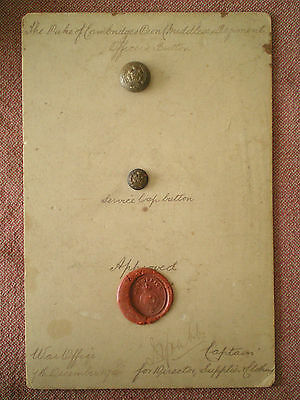1904 Sealed Pattern War Office Approved Middlesex Regiment Officers Buttons