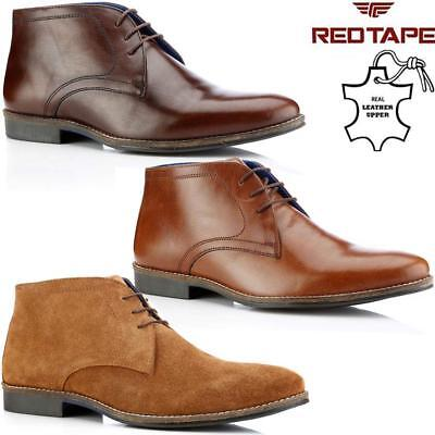 Mens Real Suede Casual Retro Walking Chukka Lace Desert Ankle Boots Shoes Size