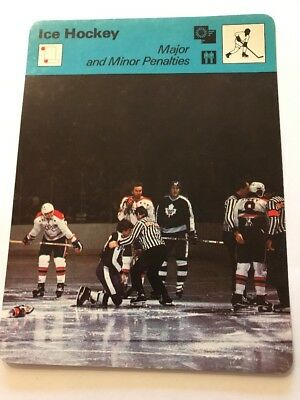 Sportcaster Rencontre Sports Card - Ice Hockey - Major And Minor Penalties!