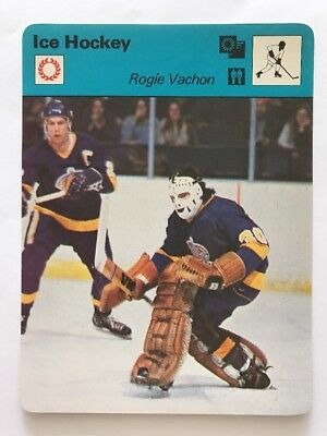 Sportcaster Rencontre Sports Card - Ice Hockey - Rogie Vachon!