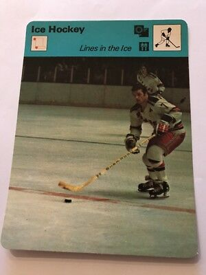 Sportcaster Rencontre Sports Card - Ice Hockey - Lines In The Ice!