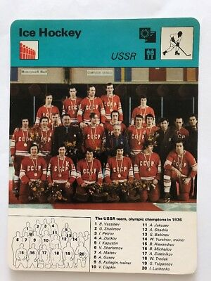 Sportcaster Rencontre Sports Card - Ice Hockey - USSR !