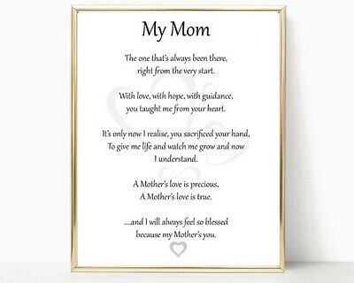 SPECIAL MOM MOTHER Poem Prayer Personalized Name Art Print