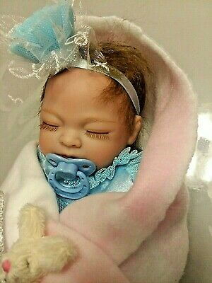 Tiny Preemie  Princess Girl  W/ Pacifier  Anatomical.  Full Vinyl