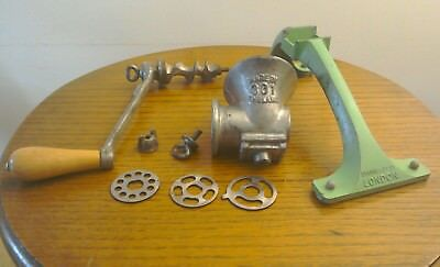 Vintage 'spong' 301 Mincer Grinder Made In London England Table Top Kitchenalia