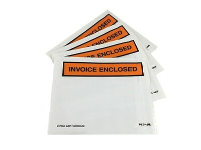 "4.5"" x 5.5"" Invoice Enclosed Packing List Envelopes Self Sealing Slip Pouches"