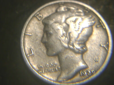 1929-S Mercury Dime In Very/fine+) Condition.rare.add To Set Or Collection.