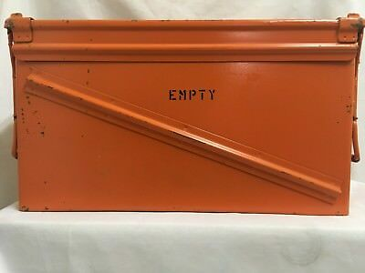 Pa120 40Mm Ammo Can Box Chest Top Double Loading Hinged - Great Condition Orange
