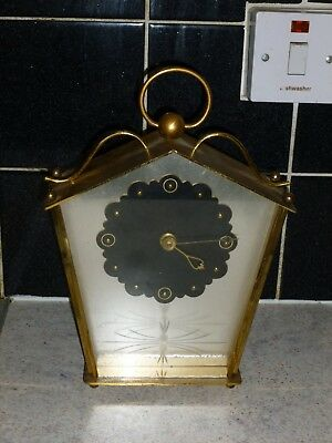 Vintage brass with glass wind up mantel clock