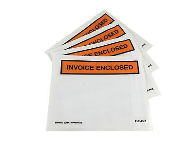 "4.5"" x 5.5"" Invoice Enclosed Packing List Envelopes Self Seal Adhesive Pouch"