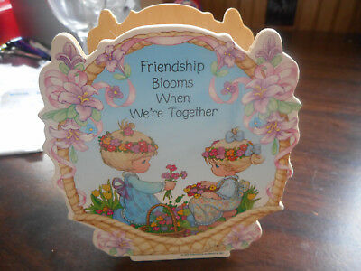 """New Precious Moments Wood Box Says """"friendship Blooms When We're Together"""""""