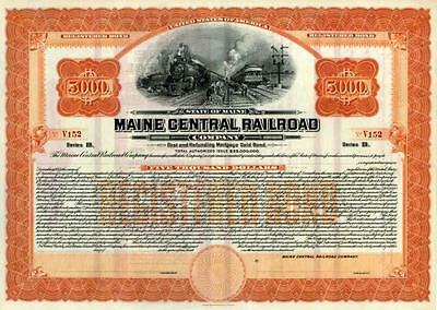 19__ Maine Central RR Registered Bond Certificate