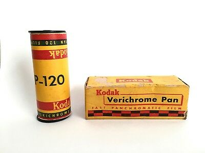 Lot of 2 Rolls Vintage KODAK Verichrome Pan Film 620 & 120 Expired 1959