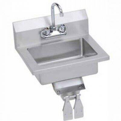Elkay EHS-18-KVX Wall Economy Hand Sink W/ 14x10x5-in Bowl And Faucet, Knee