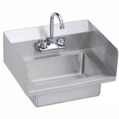 Elkay EHS-18-SSX Wall Economy Hand Sink W/ 14x10x5-in Bowl And Faucet, L-R