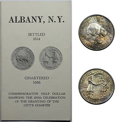 1936 Albany Commemorative Half Dollar, BU, nicely toned, with original mailer