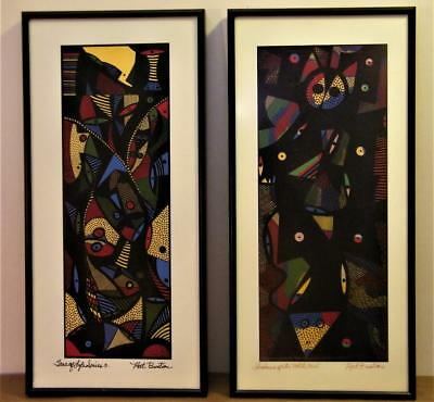African/ American Artist Nathienal Bustion 2 signed serigraphs C.O.A's