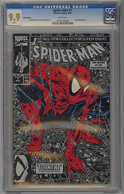 Spiderman 1 CGC 9.9  Siver Edition.  White Pages.