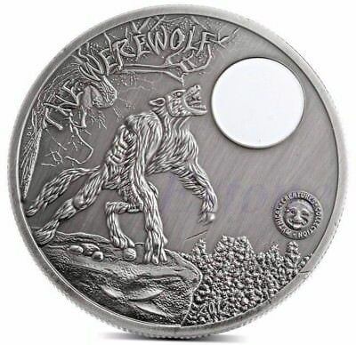 Palau Moon Night Werewolf - 1 oz. Silver Plated Collectible/Novelty Art Coin New