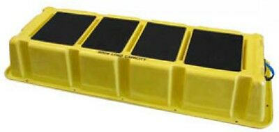 1 Step Plastic Step Stand Long - Yellow 66-1/2'W X 26-1/2'D X 10'H - NLST-1 YEL