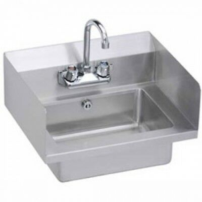 Elkay EHS-18-SDX Wall Economy Hand Sink W/ 14x10x5-in Bowl And Faucet, L-R