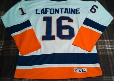 new product 8d2bf 123b0 PAT LAFONTAINE JERSEY Replica #16 New York Islanders XL 52 Sewn New W/O Tags