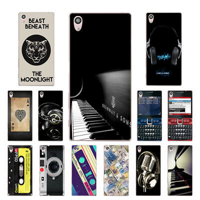 "5.2"" Soft TPU Silicone Case For Sony Xperia Z5 Phone Back Cover Skin Music"
