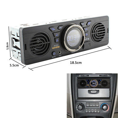 1Din 12V Car MP3 Radio Audio Player Built-in 2Speaker Stereo FM USB/TF Card Port