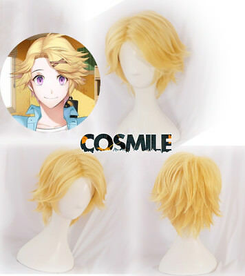 Limit Mystic Messenger Yoosung Cosplay Hair Wig Yellow Cos Game
