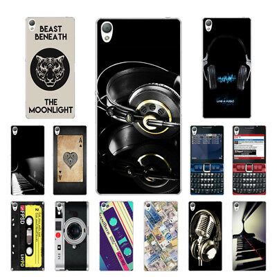 "5.2"" Soft TPU Silicone Case For Sony Xperia Z3 Phone Back Cover Skin Music"