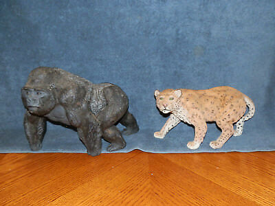ERTL WILDS OF AFRICA SERIES Safari Wildlife Figure cheetah, gorilla LOT