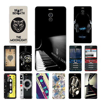 Soft TPU Silicone Case For Meizu M6 Note Protective Phone Back Cover Skin Music