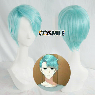 Limit Mystic Messenger Visitor V Cosplay Hair Wig Mint green Cos Game