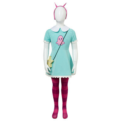 Star vs.the Forces of Evil Princess Butterfly Kid Child CCosplay Attire Costume